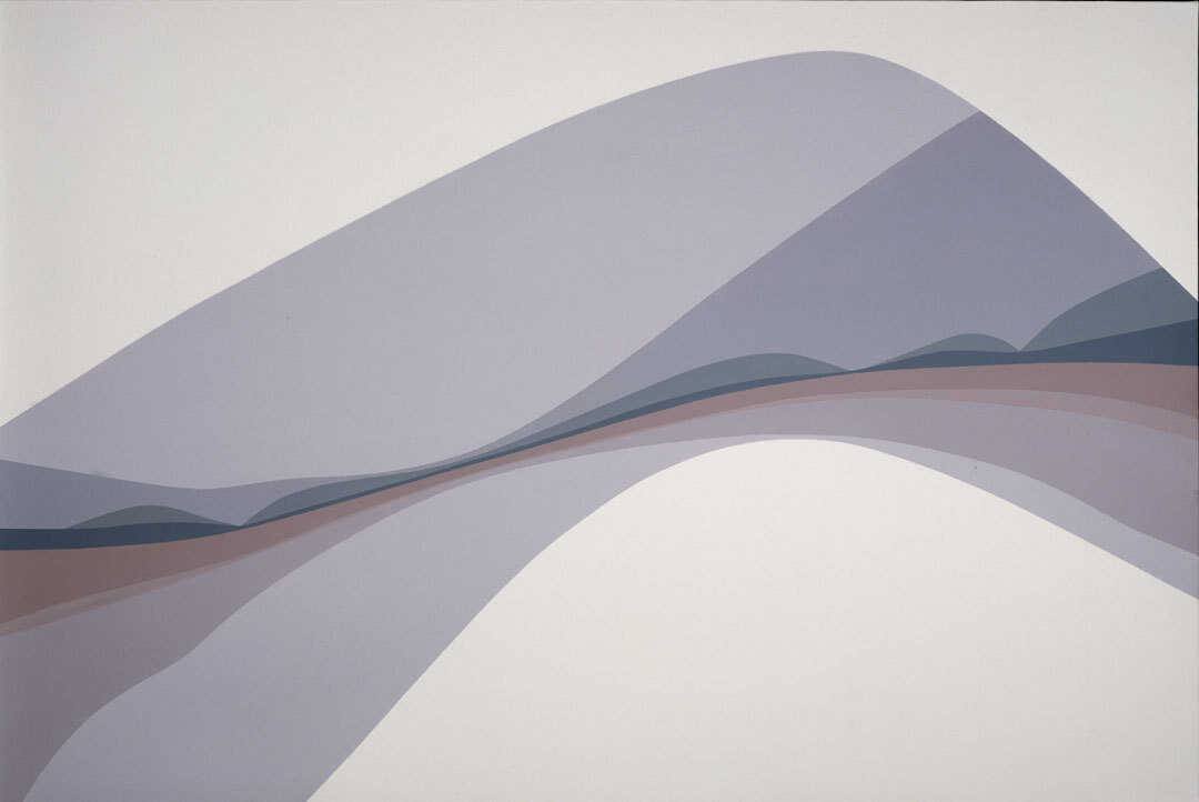 Landscape , 1968 acrylic on canvas 40 × 59 3/4 inches; 101.5 × 151.7 centimeters  Hirshhorn Museum and Sculpture Garden