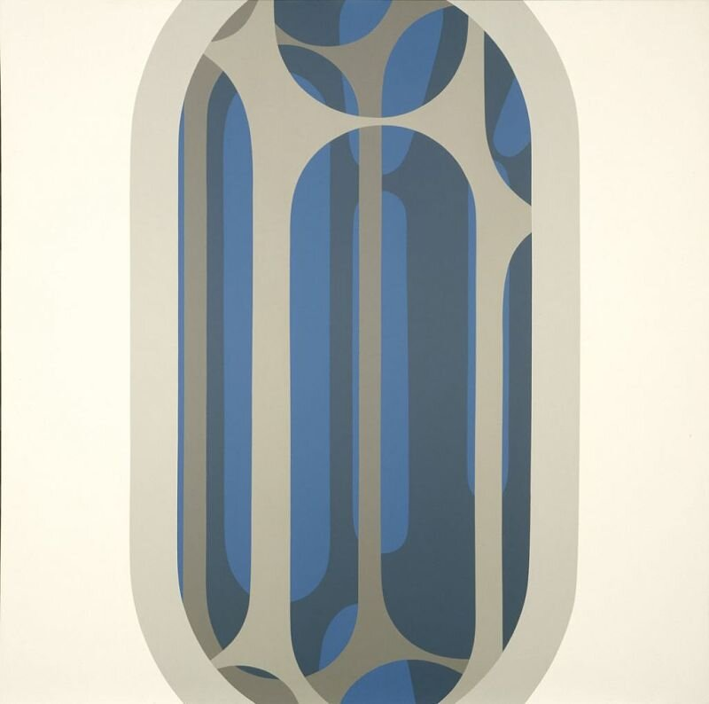 Arcanum #2 , 1968 acrylic on canvas 60 × 60 inches; 152.4 × 152.4 centimeters  Hirshhorn Museum and Sculpture Garden