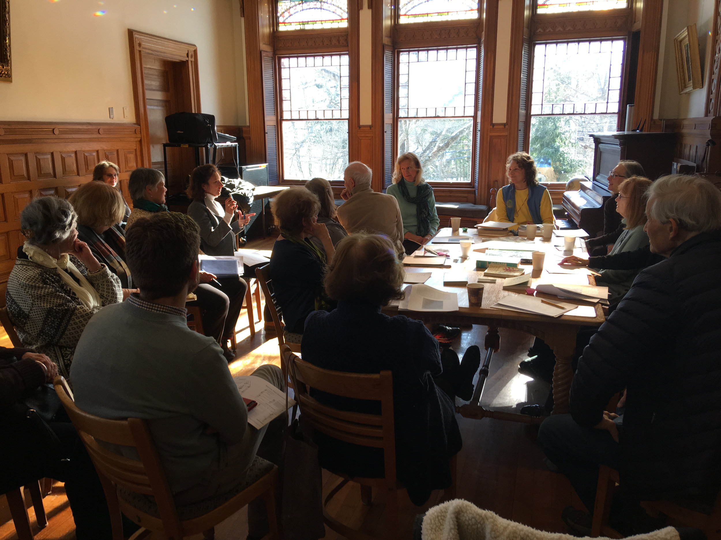 A workshop for the Lincoln Garden Club, Lincoln, MA January 2019