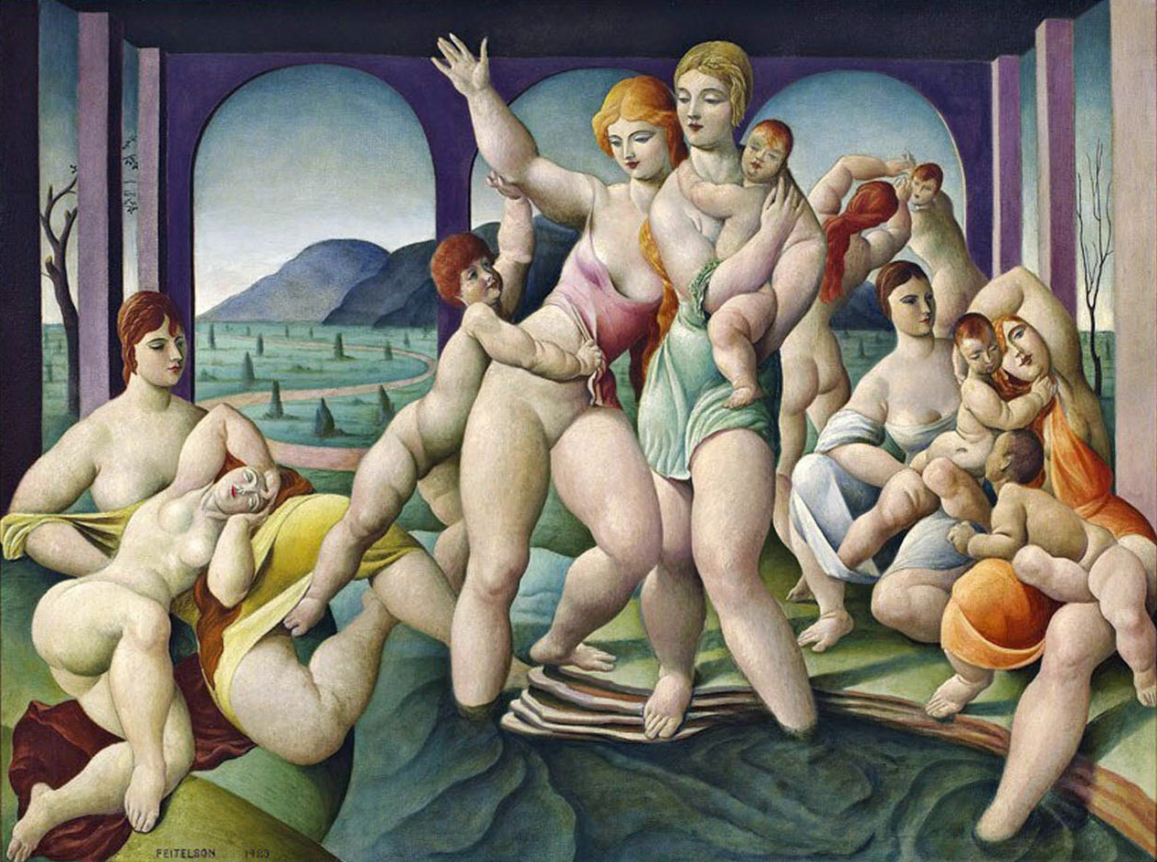 Untitled (Bathers) , 1923  oil on canvas 45 x 60 inches; 114.3 x 152.4 centimeters