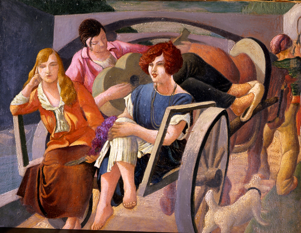 The Return from the Country , 1924  oil on canvas 20 x 24 inches; 50.8 x 61 centimeters