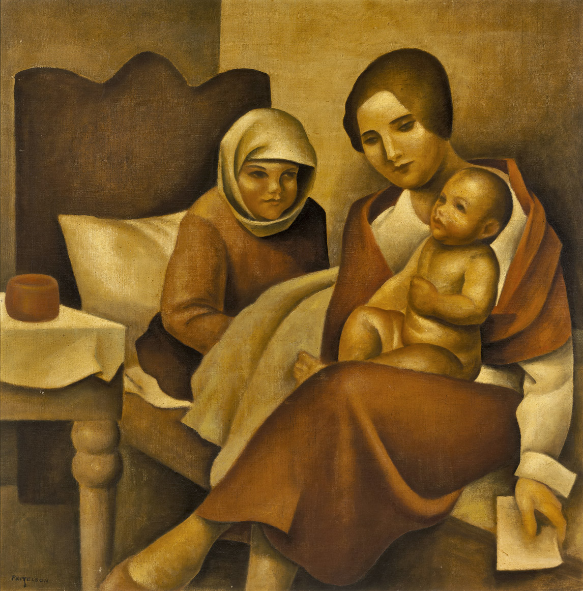 Convalesence , 1939  oil on canvas 36 x 36 inches; 91.4 x 91.4 centimeters