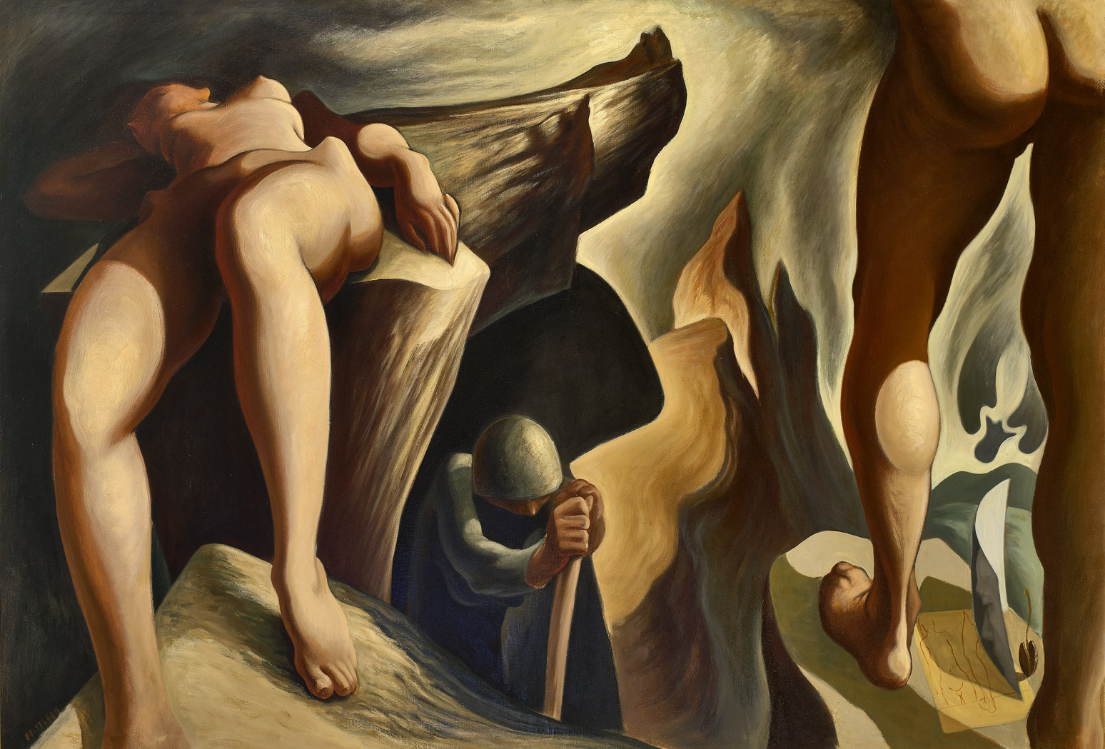 Post Surreal Configuration: Eternal Recurrence , 1939-40  oil on canvas 50 x 72 1/2 inches; 127 x 184.2 centimeters