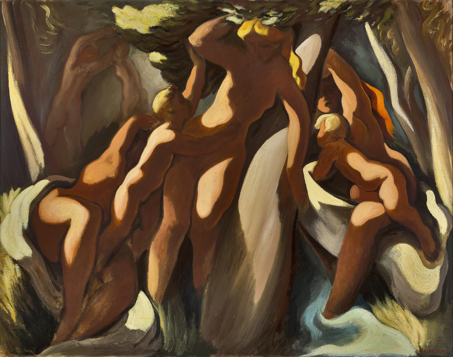 Bathers , 1942  oil on canvas 40 x 50 inches; 101.6 x 127 centimeters
