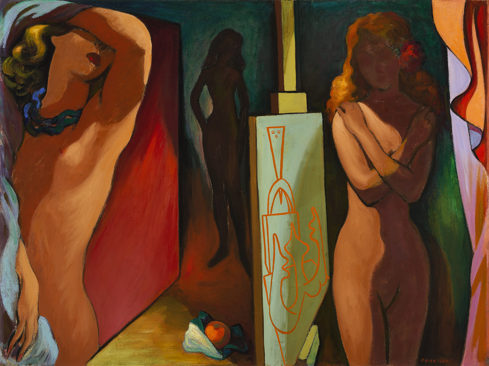 Allegory of the Golden Apple , 1943  oil on canvas 36 x 48 inches; 91.4 x 121.9 centimeters