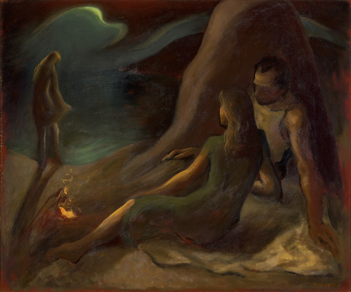 Beach Nocturne , 1943  oil on canvas 30 x 36 inches; 76.2 x 91.4 centimeters