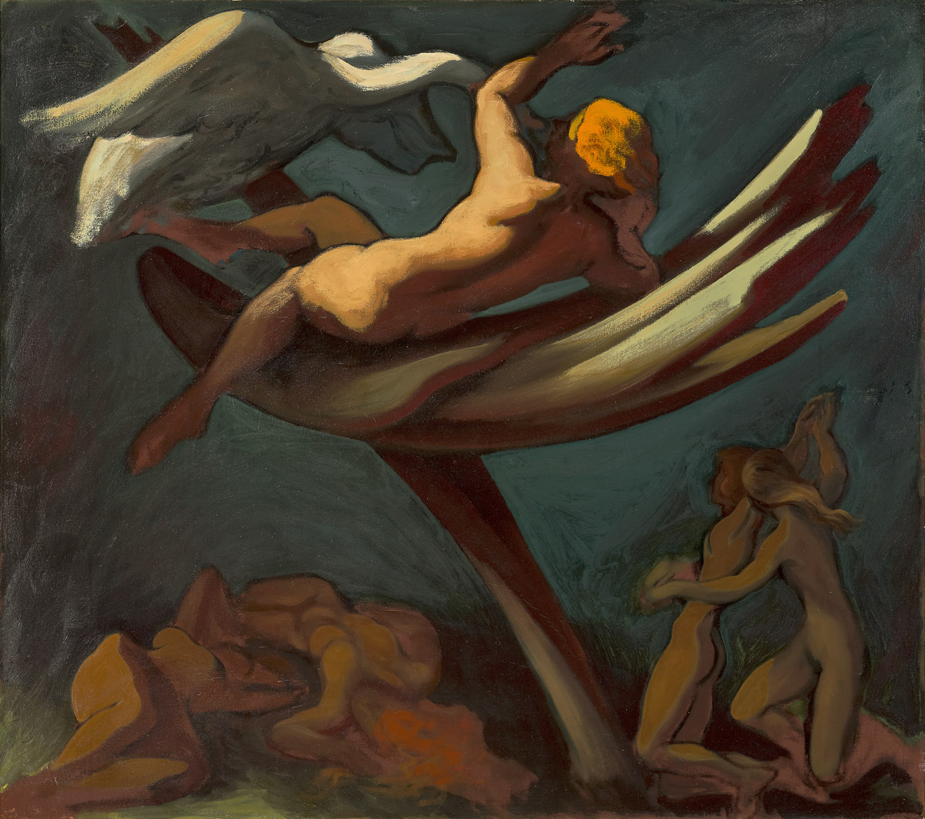 Leda , 1943  oil on canvas 36 x 40 inches; 91.4 x 101.6 centimeters