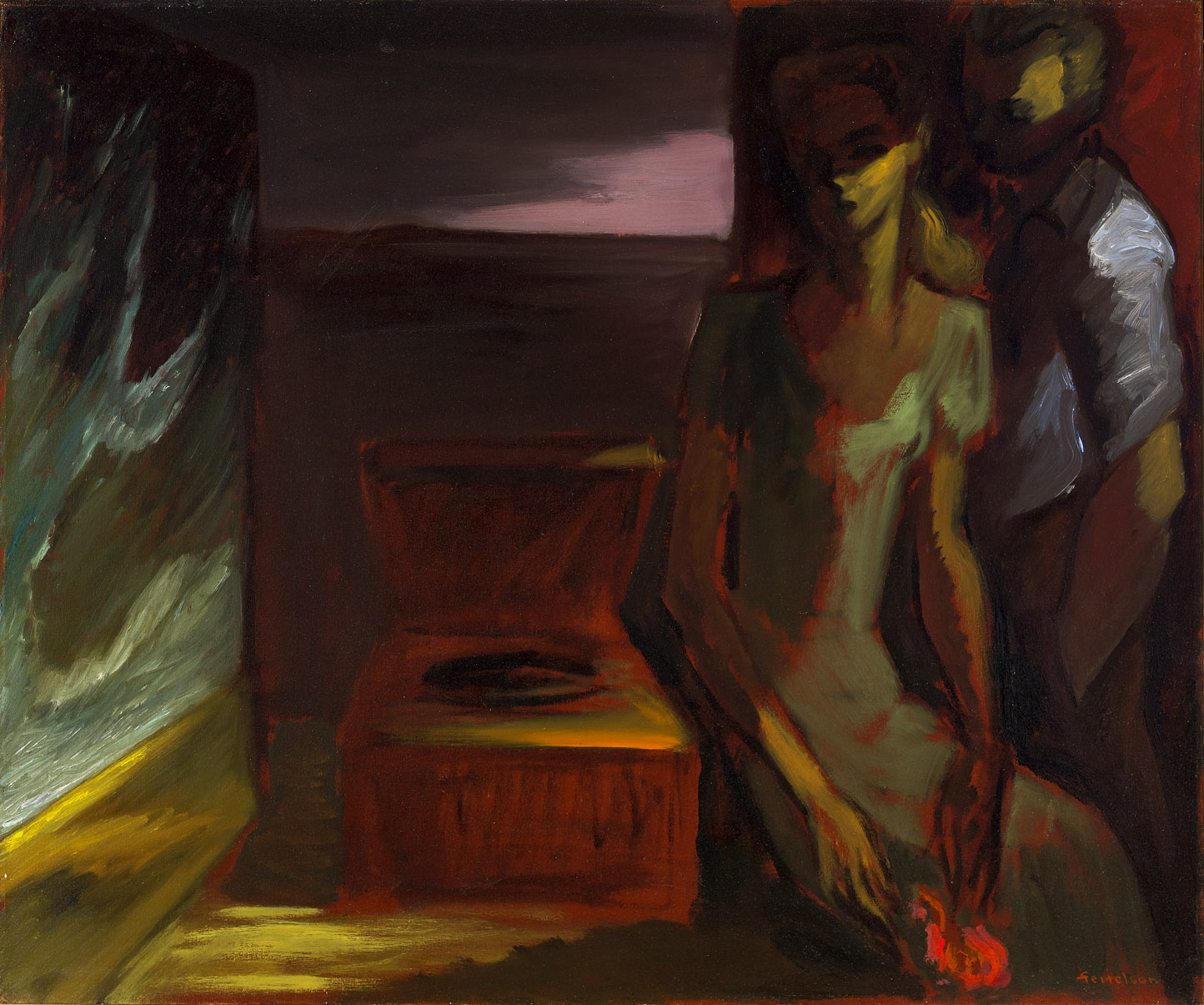 Nocturne , 1943  oil on canvas 30 x 36 inches; 76.2 x 91.4 centimeter