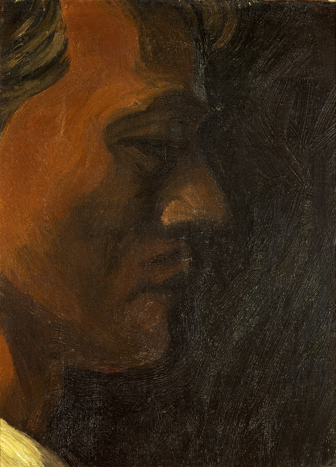 Self Portrait , 1943  Oil on Board 15 1/2 x 9 inches; 39.4 x 23 centimeters