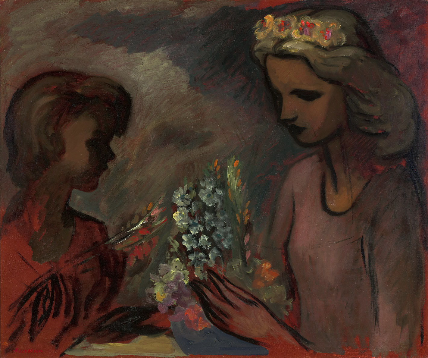 The Bouquet , 1943  oil on canvas 30 x 36 inches; 76.2 x 91.4 centimeters