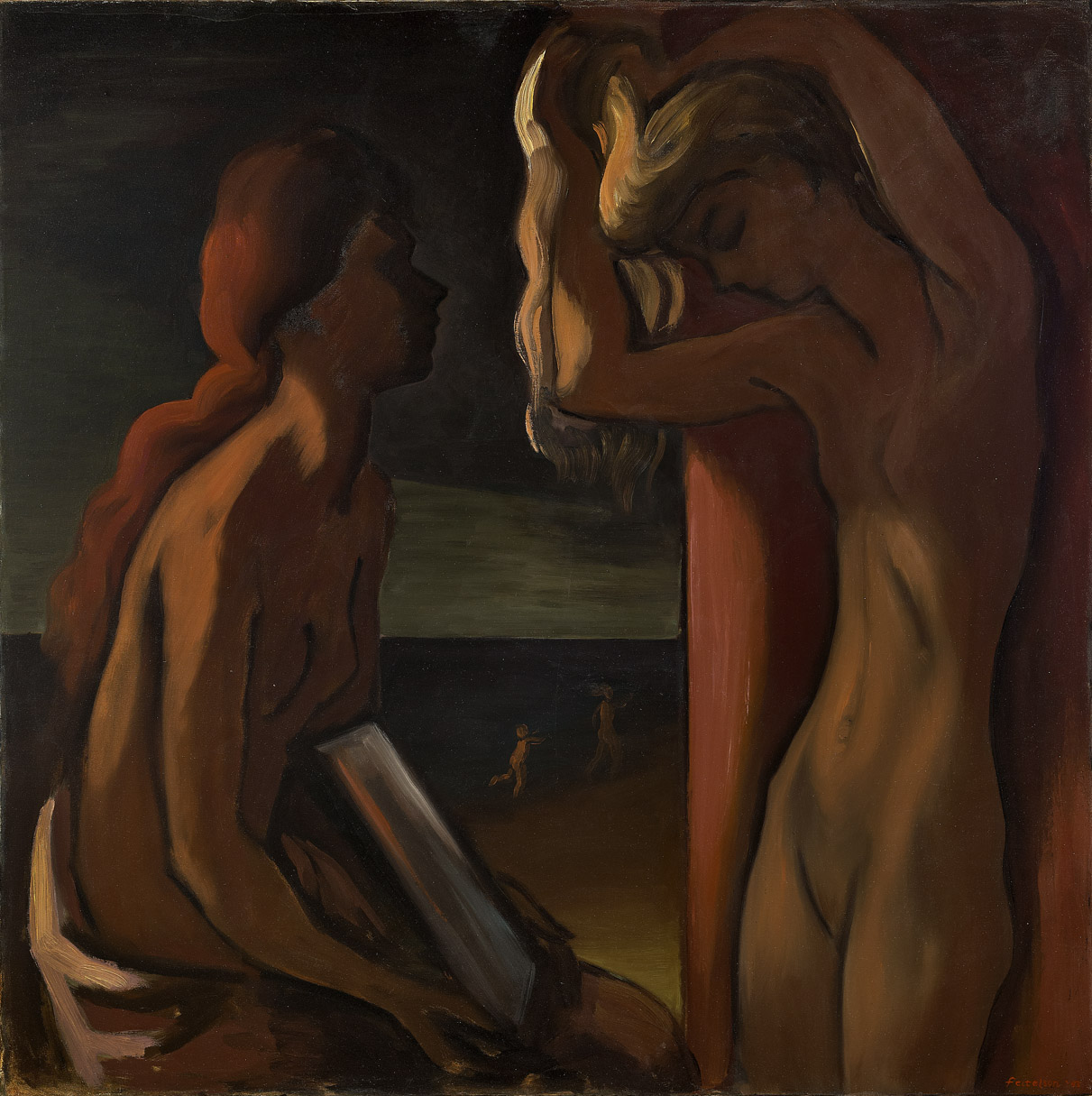 The Mirror , 1943  oil on canvas 45 x 45 inches; 114.3 x 114.3 centimeters