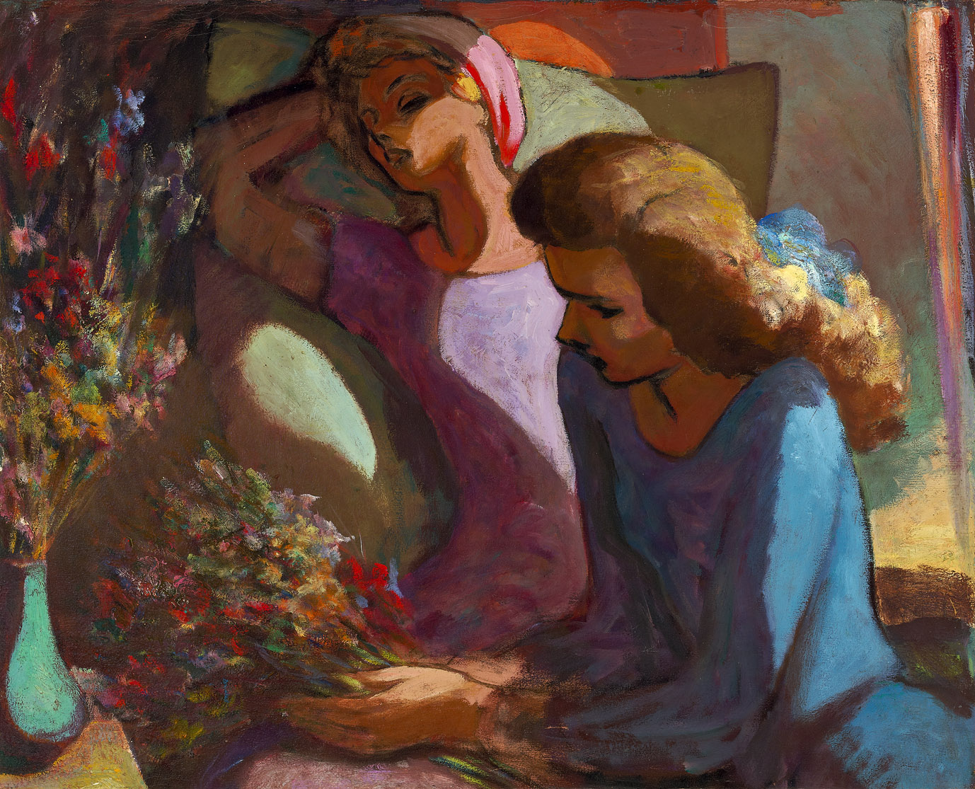 The Sisters , 1944  oil on canvas 27 x 33 inches; 68.6 x 83.8 centimeters