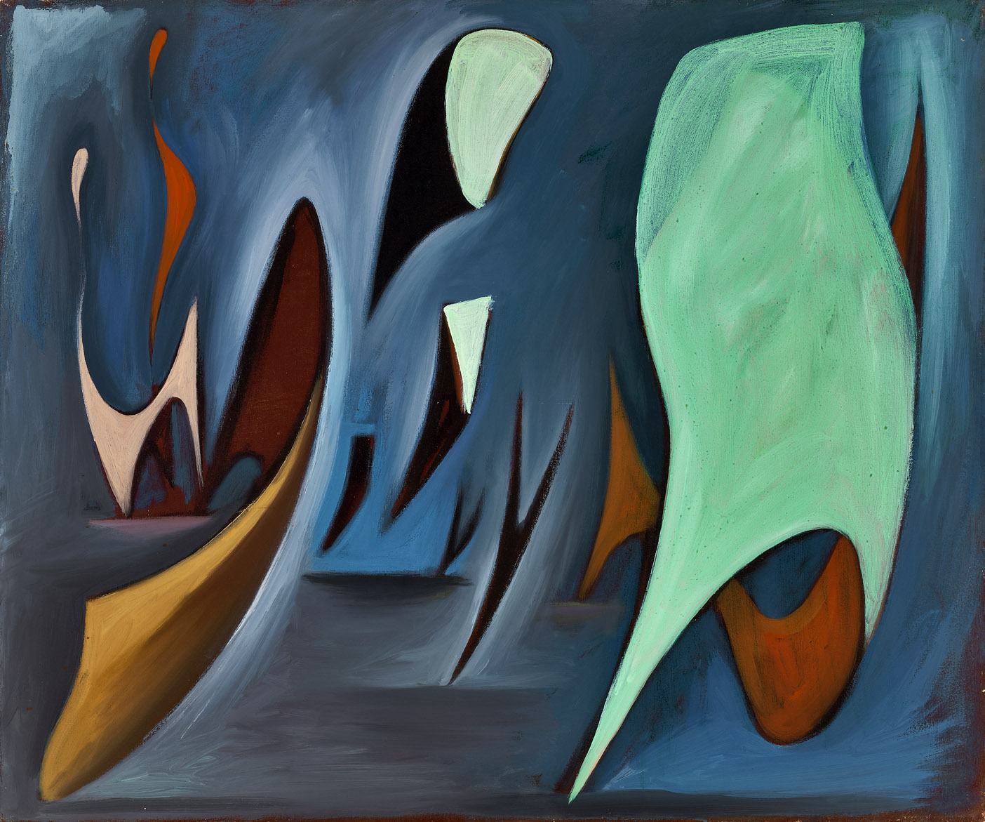 Untitled , 1947  oil on canvas 30 x 36 inches; 76.2 x 91.4 centimeters