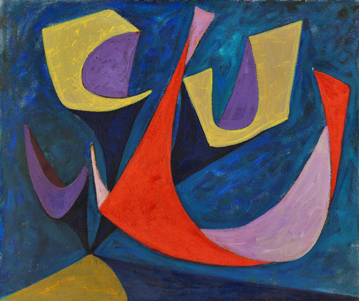 Untitled, Magical Forms , 1948  oil on canvas 30 x 36 inches; 76.2 x 91.4 centimeters