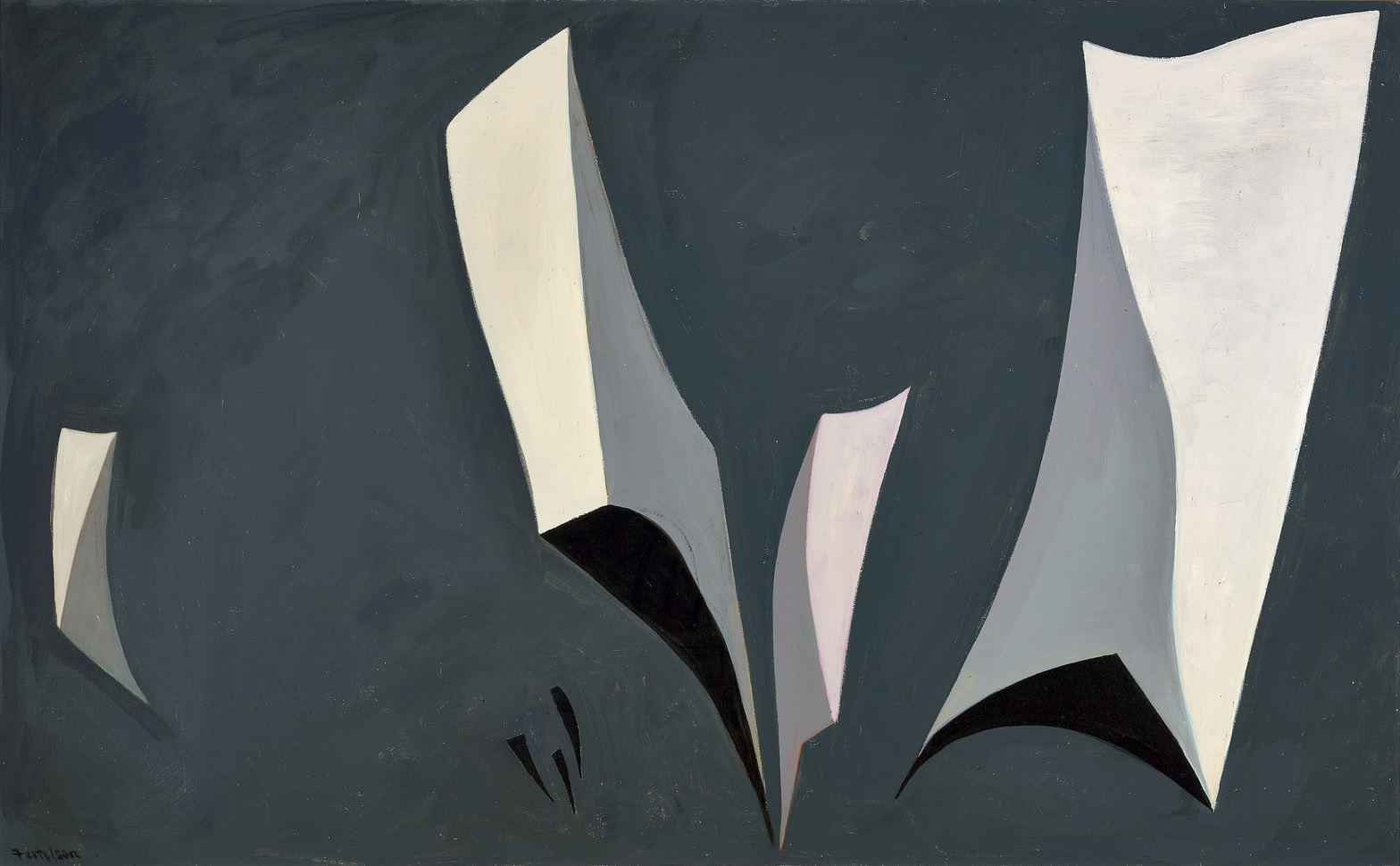 Untitled, Magical Forms , 1947  oil on canvas 31 x 47 inches; 78.7 x 119.4 centimeters