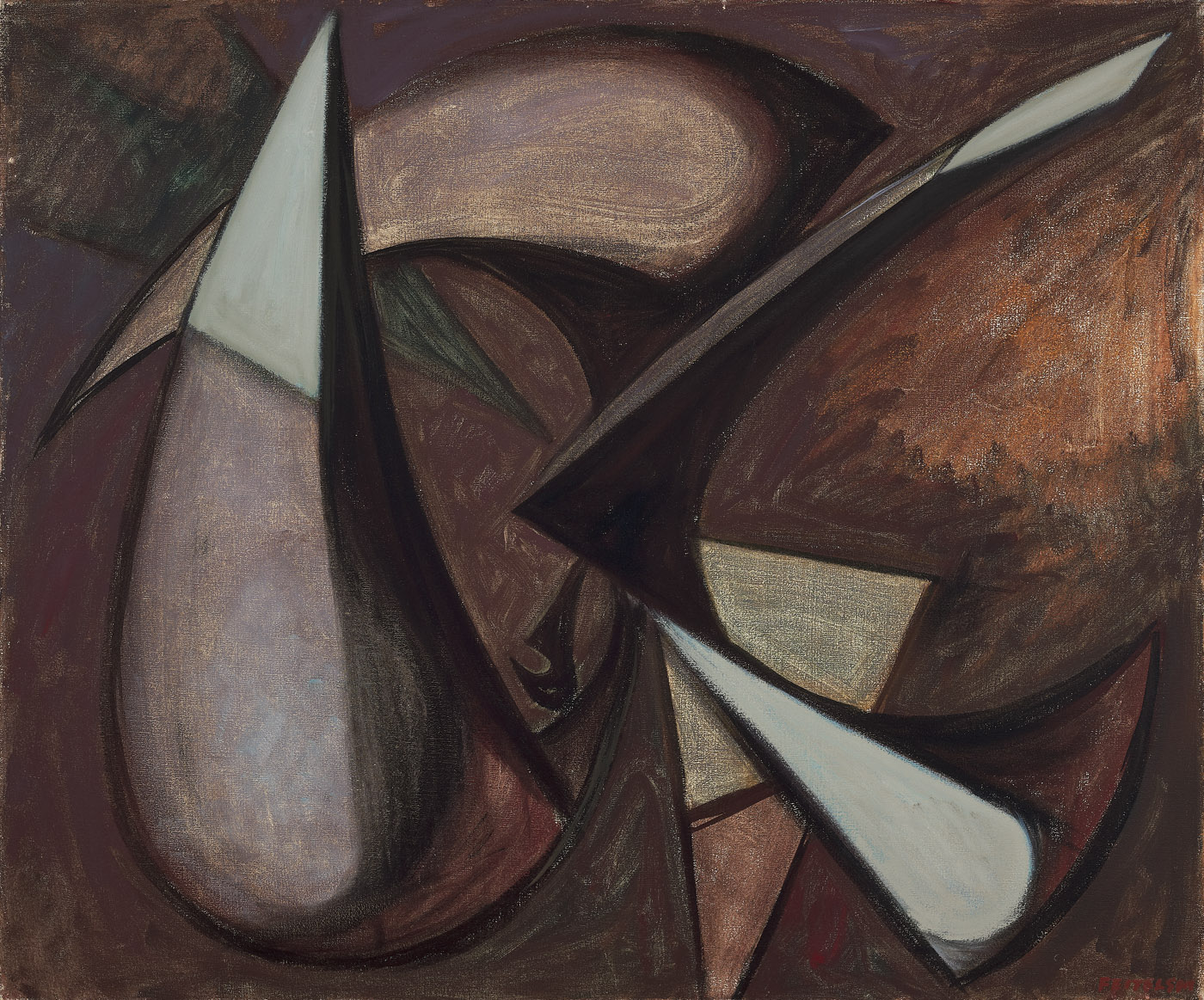 Prometheus , 1949  oil on canvas 30 x 36 inches; 76.2 x 91.4 centimeters