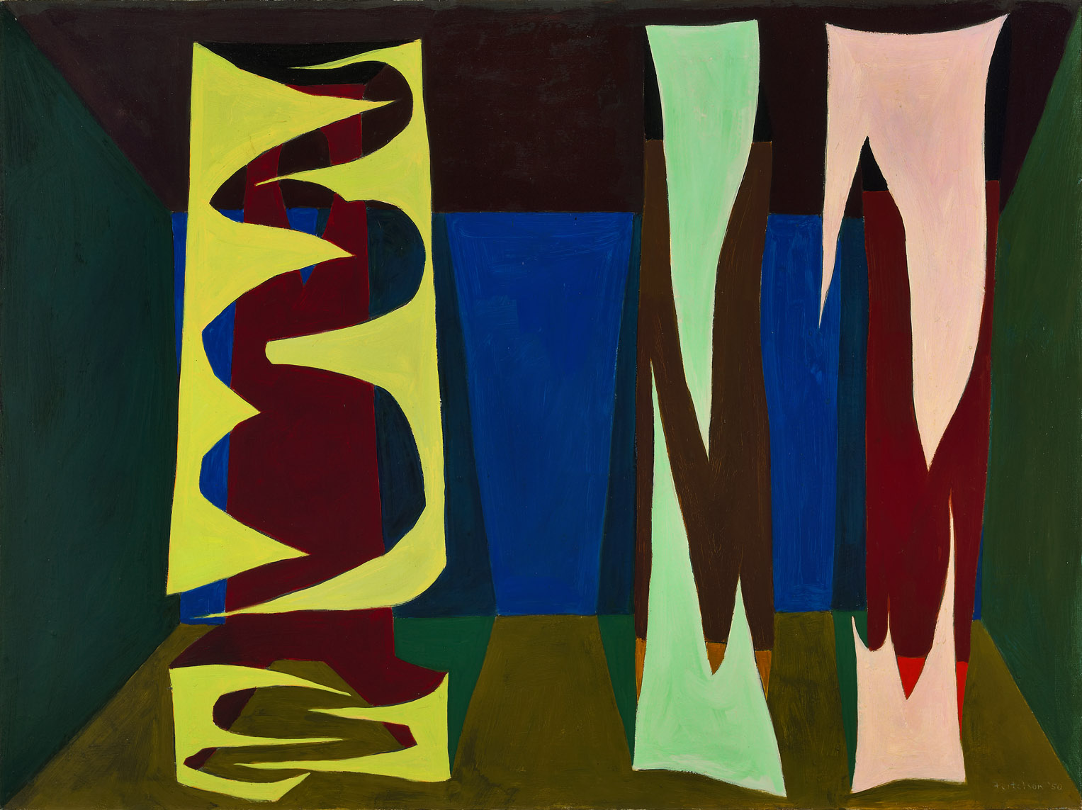 Untitled (Mean Forms) , 1949  oil on canvas 30 x 40 inches; 76.2 x 101.6 centimeters