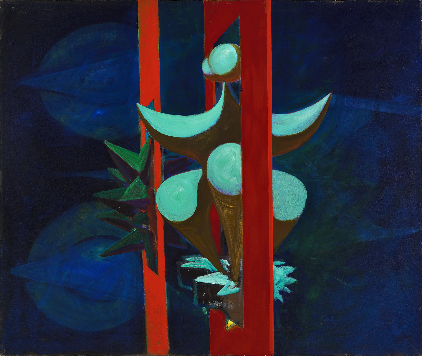 Untitled, Magical Forms , 1949  oil on canvas 30 x 36 inches; 76.2 x 91.4 centimeters