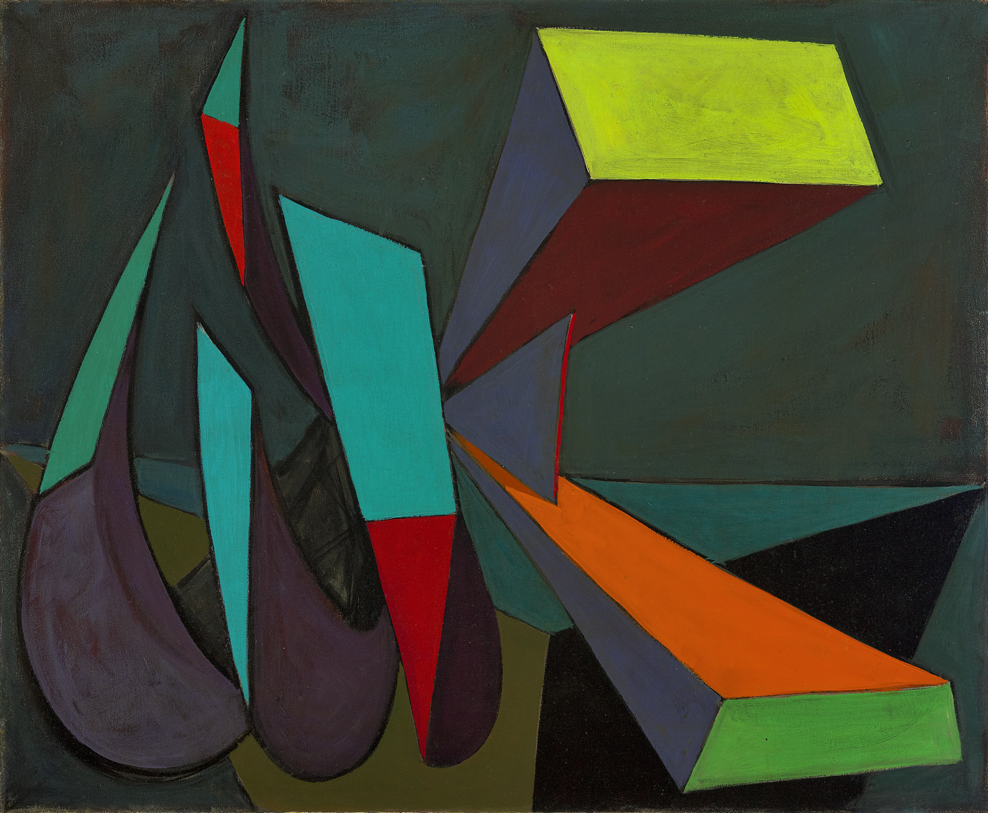 Mirabilia #2 , 1950  oil on canvas 30 x 36 inches; 76.2 x 91.4 centimeters