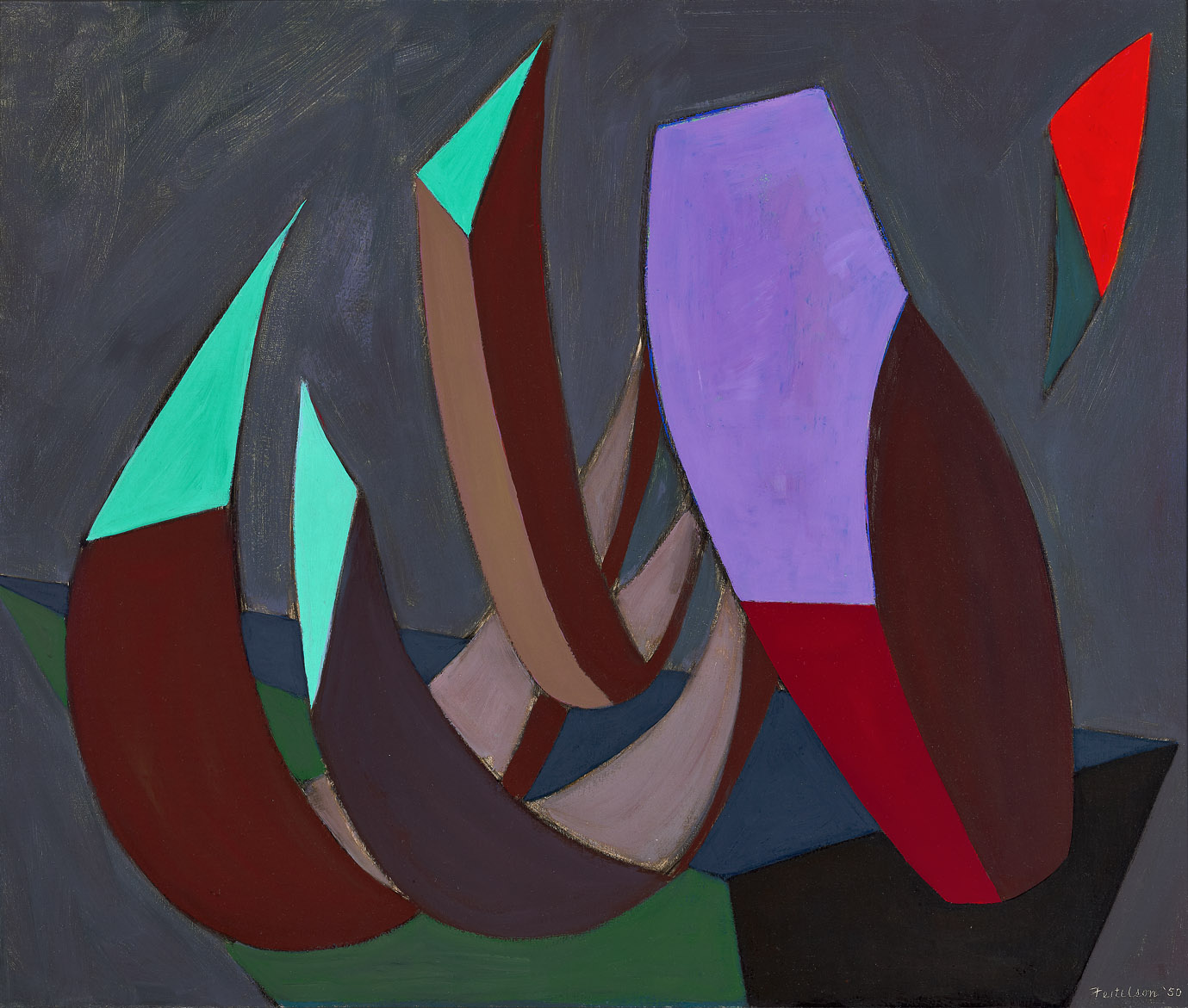 Mirabilia #24 , 1950  oil on canvas 30 x 36 inches; 76.2 x 91.4 centimeters
