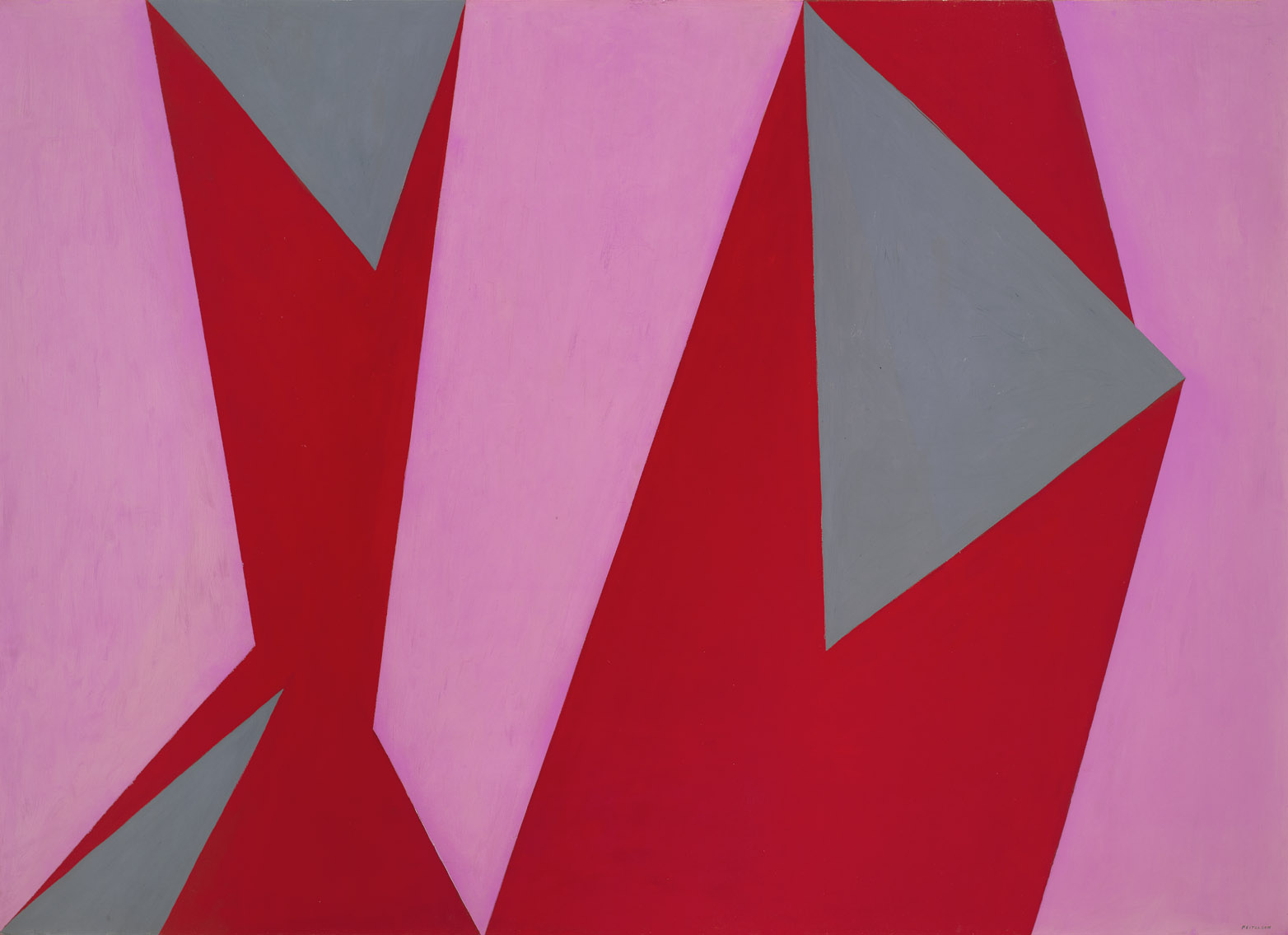 Magical Space Forms , 1951  oil on canvas 58 x 82 inches; 147.3 x 208.3 centimeters