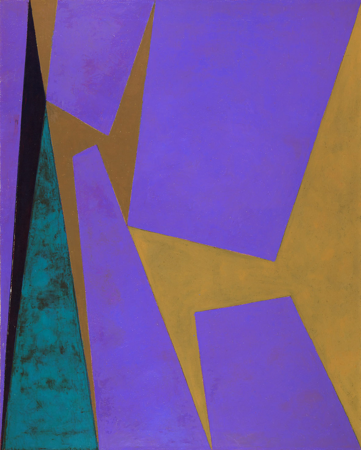 Magical Space Forms , 1955  oil on canvas 50 x 40 inches; 127 x 101.6 centimeters