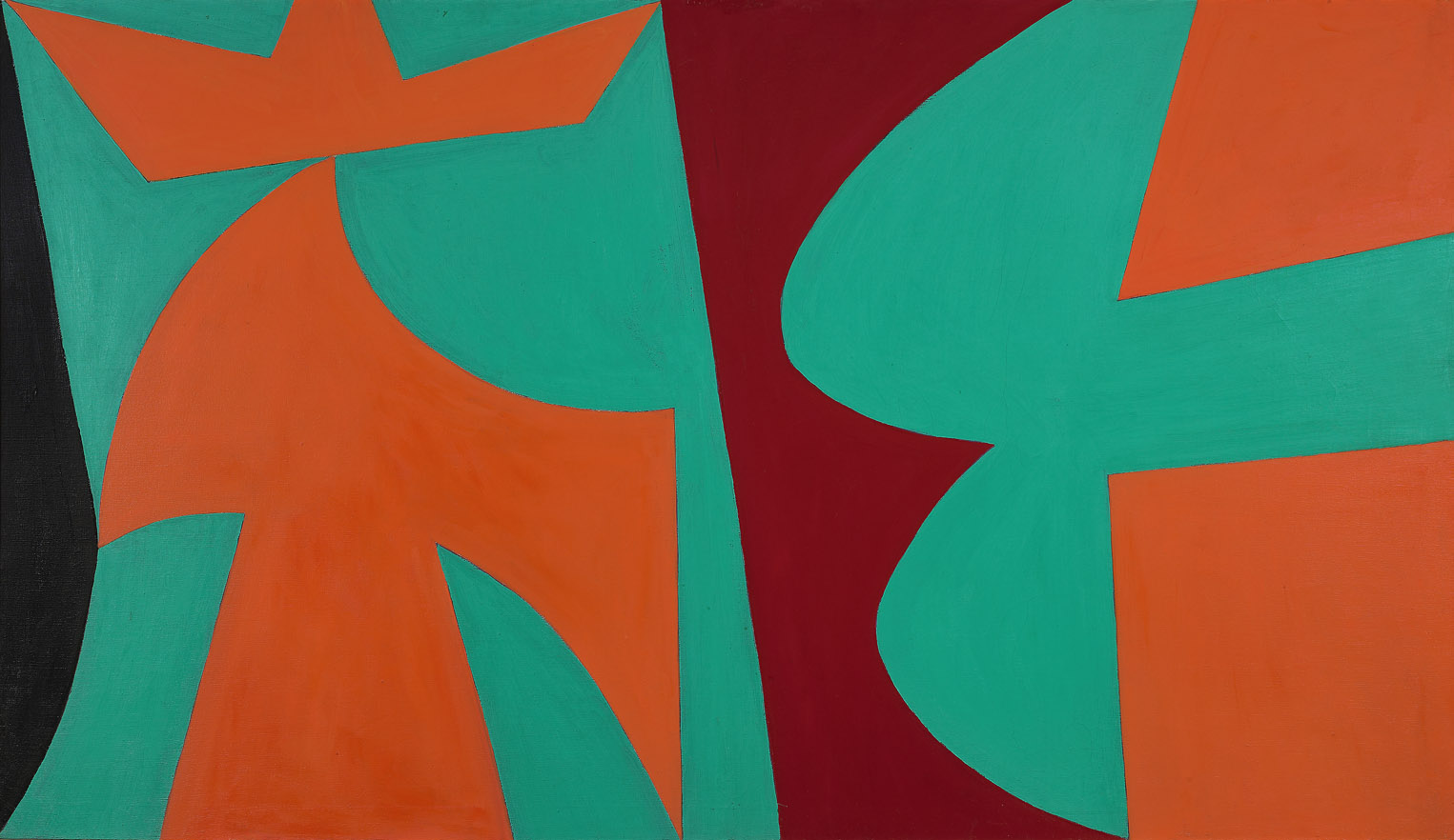 Untitled , 1952  oil on canvas 40 x 72 inches; 101.6 x 177.8 centimeters