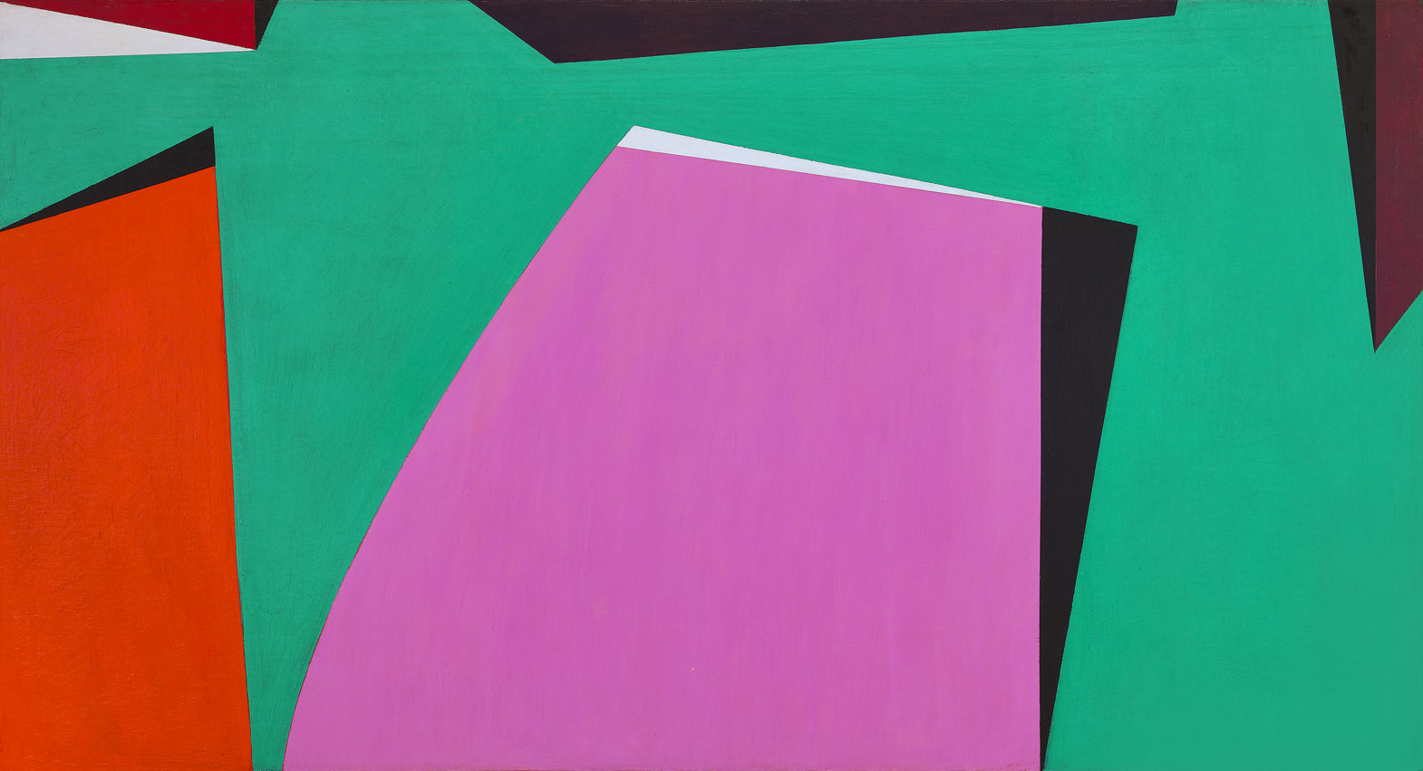 Space Forms , 1953  oil on canvas 40 x 74 inches; 101.6 x 188 centimeters