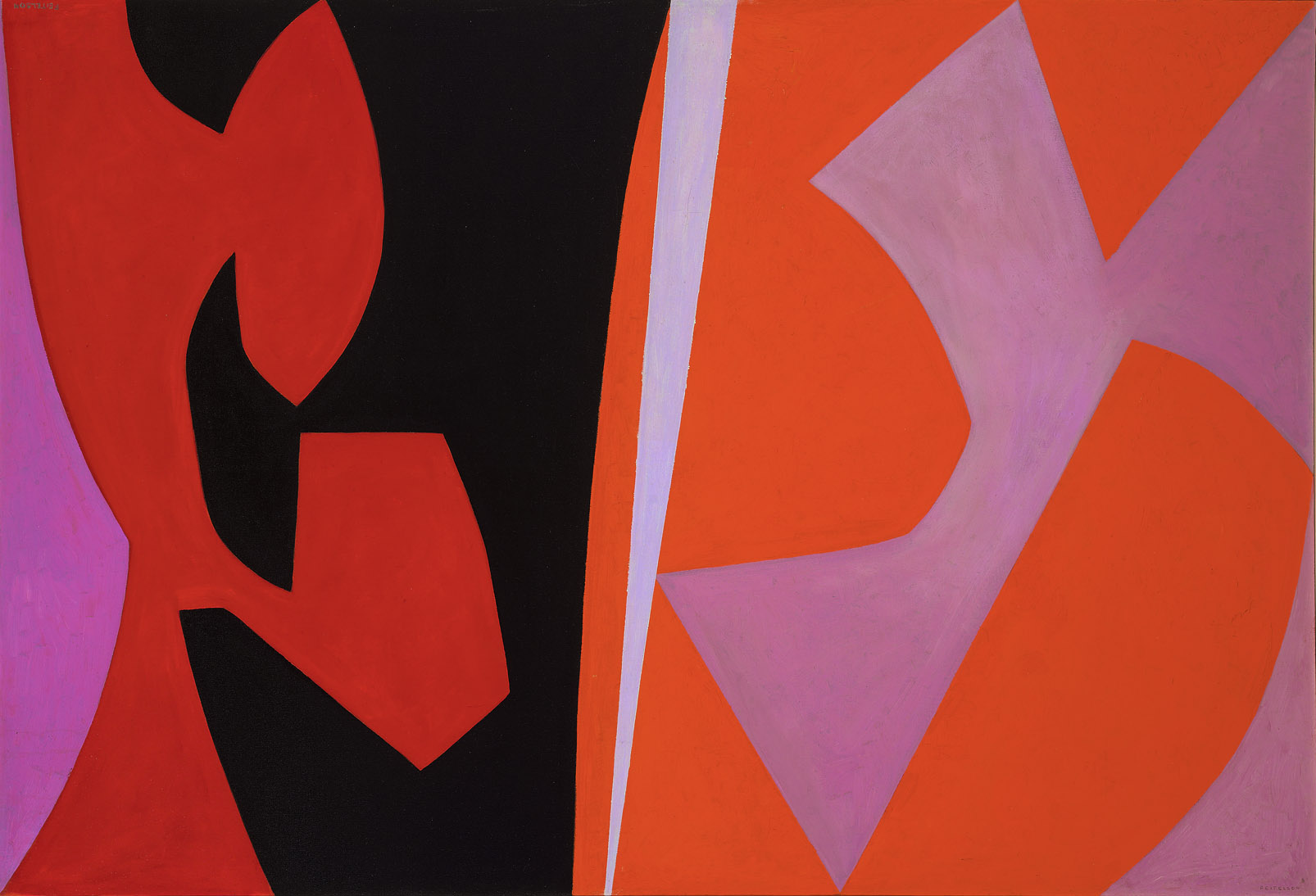 Magical Space Forms , 1952-54  oil on canvas 45 x 66 inches; 114.3 x 167.6 centimeters