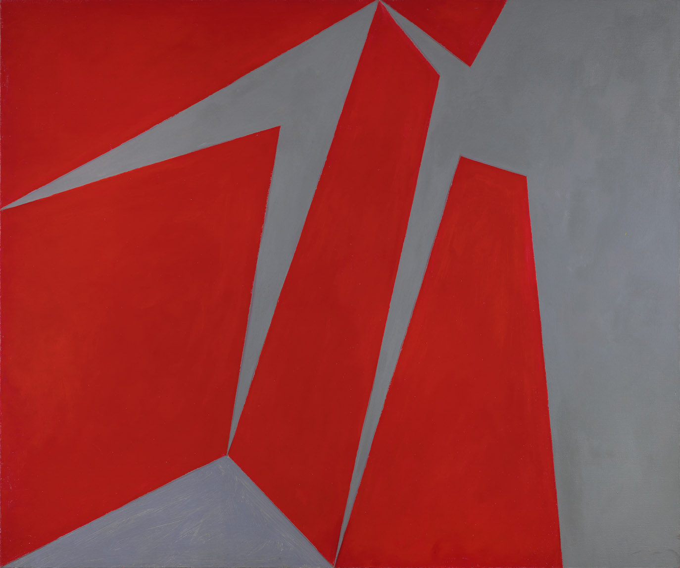 Magical Space Forms , 1954  oil on canvas 50 x 60 inches; 127 x 152.4 centimeters
