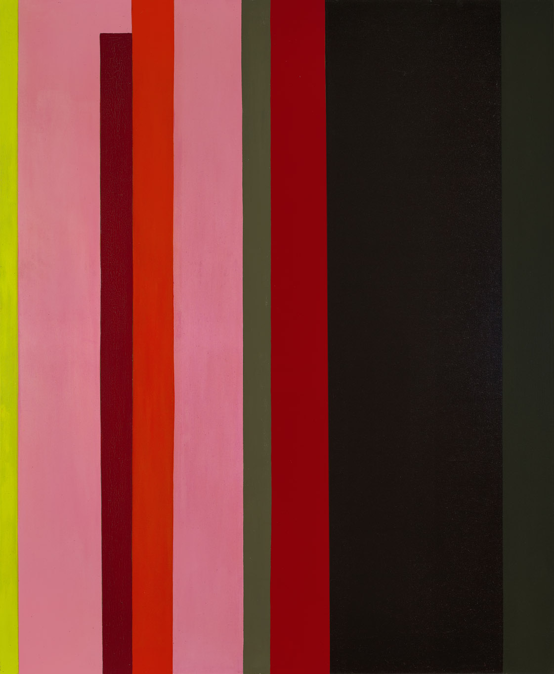 Magical Space Forms: Stripes , 1954  oil on canvas 60 x 50 inches; 152.4 x 127 centimeters