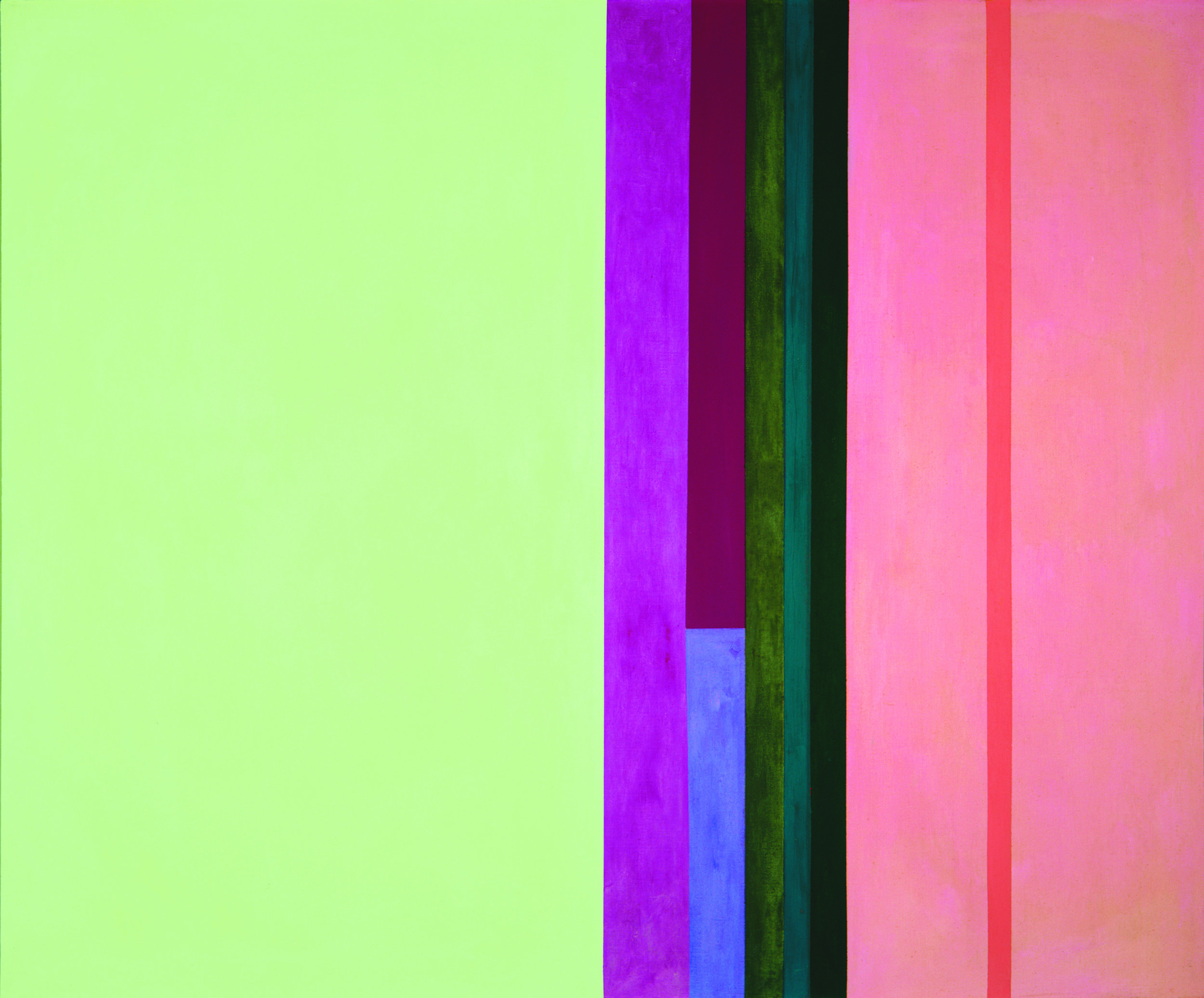 Dichotomic Organization: Stripes , 1959  oil on canvas 50 x 60 inches; 127 x 152.4 centimeters