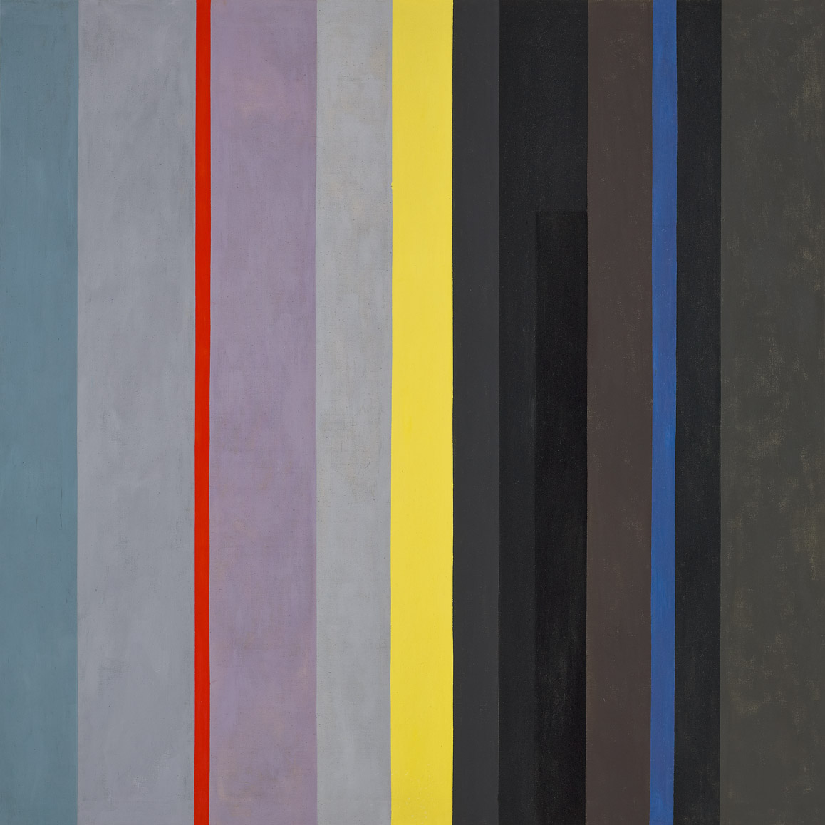 Dichotomic Organization: Stripes , 1959  oil on canvas 70 x 70 inches; 177.8 x 177.8 centimeters