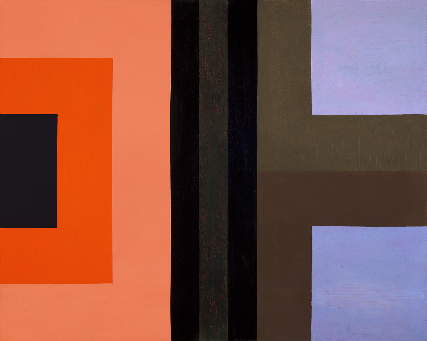 Dichotomic Organization , 1961  oil on canvas 40 x 50 inches; 101.6 x 127 centimeters