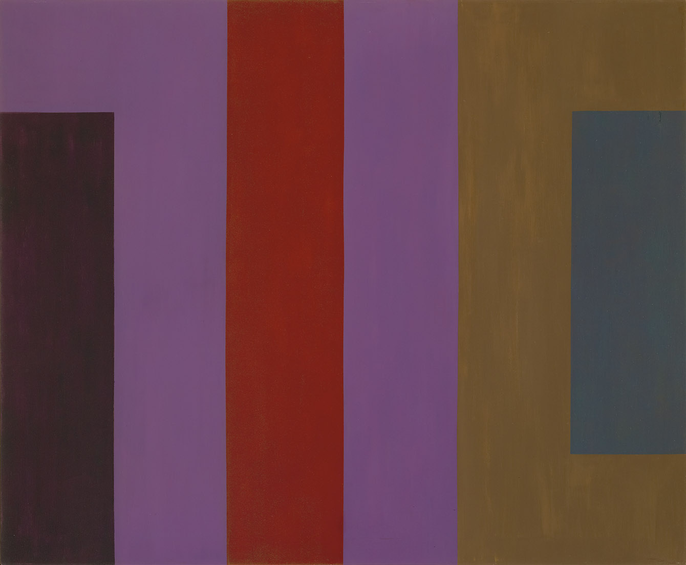 Dichotomic Organization , 1961  oil and enamel on canvas 50 x 60 inches; 127 x 152.4 centimeters