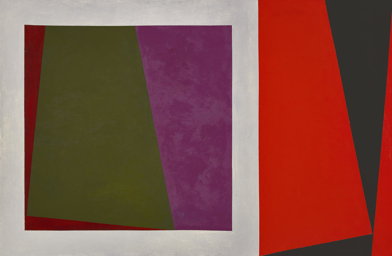 Magical Space Forms , 1960  oil on canvas 42 x 64 inches; 106.7 x 162.6 centimeters