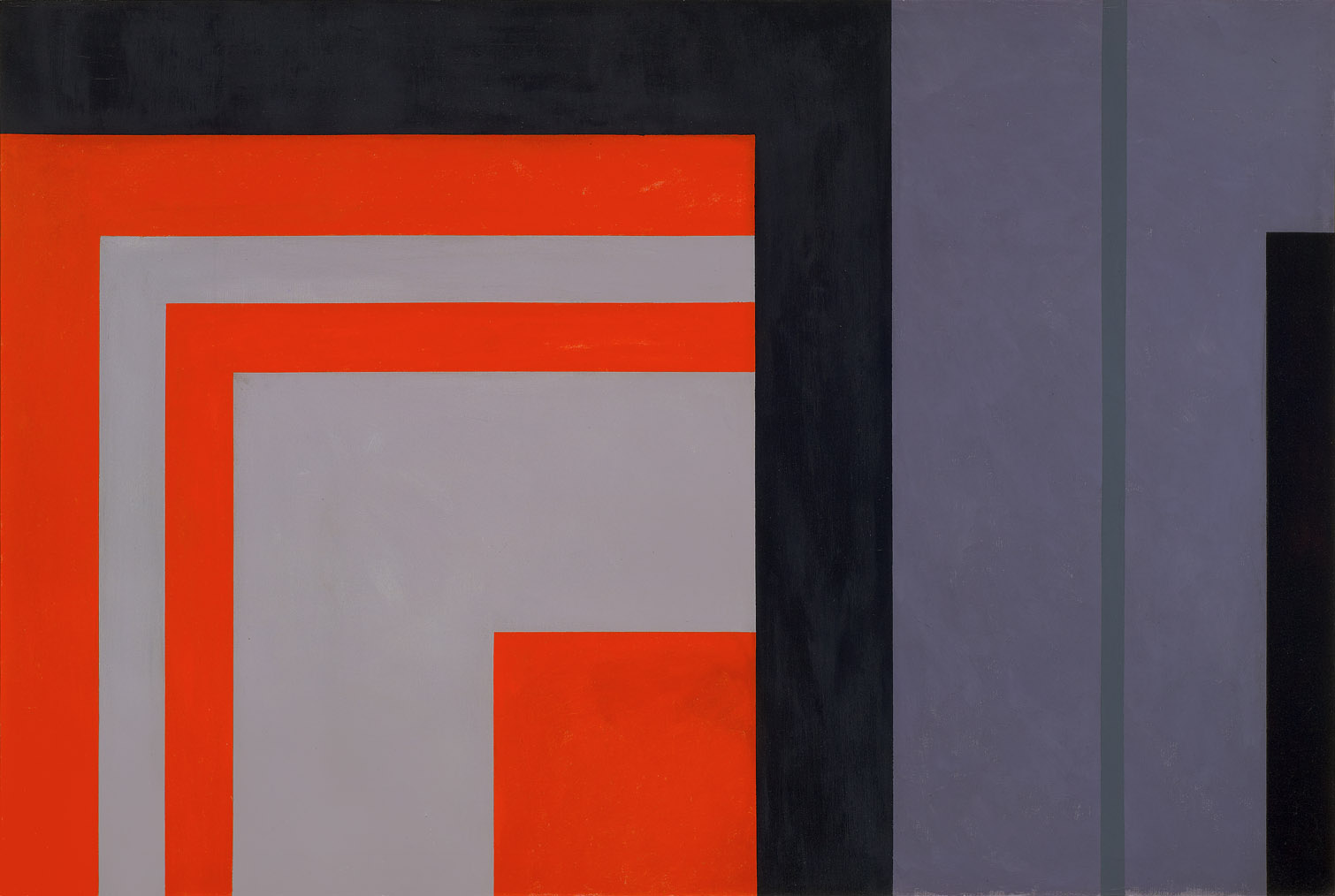 Untitled, Magical Space Forms , 1960  oil on canvas 40 x 60 inches; 101.6 x 152.4 centimeters