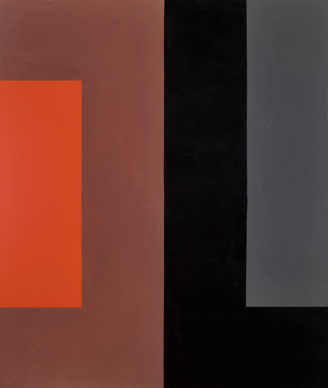 Untitled, Dichotomic Organization , 1961  oil on canvas 60 x 50 inches; 152.4 x 127 centimeters