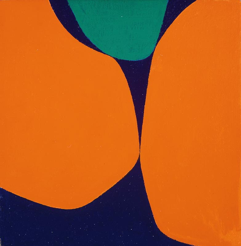Untitled, (Boulder Series) , 1962  acrylic on canvas 9 3/4 x 9 1/2 inches; 24.8 x 24.1