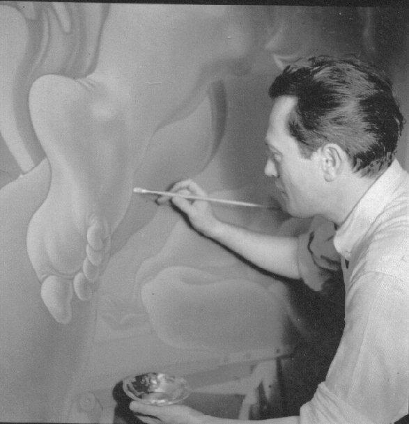 Lorser Feitelson painting, 1937