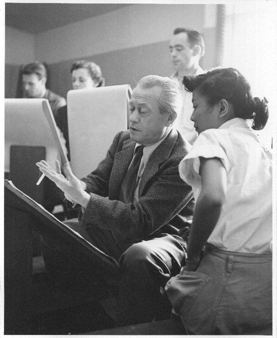 Lorser Feitelson teaching, ca. 1950's