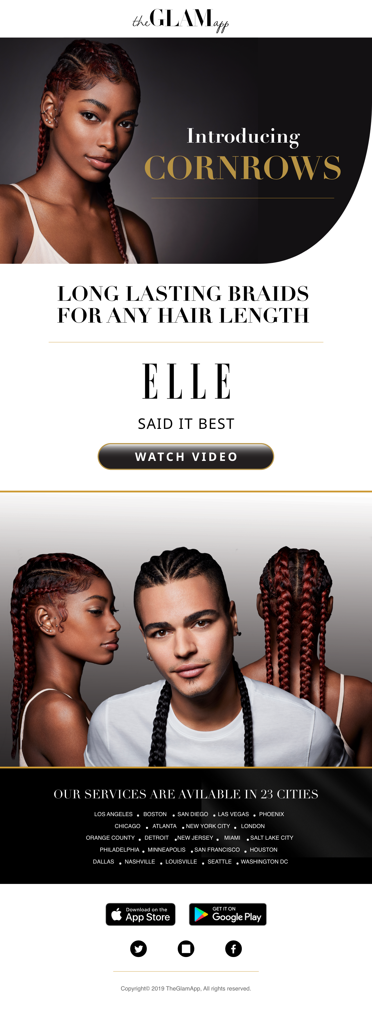 The Glam App | Cornrows