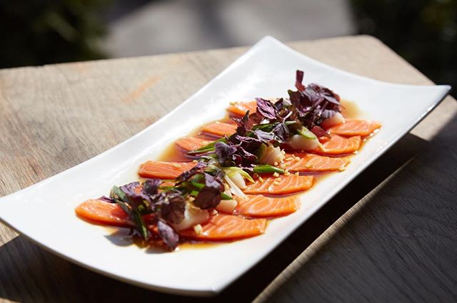 We're welcoming spring with a bunch of new dishes on our menu! One of them is our Salmon Scallop Crudo- come try this new favorite for yourself!