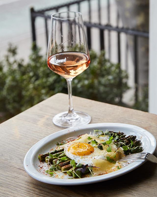 So simple, yet so good- Asparagus & Egg with shaved Parmesan, lemon, and chili flakes