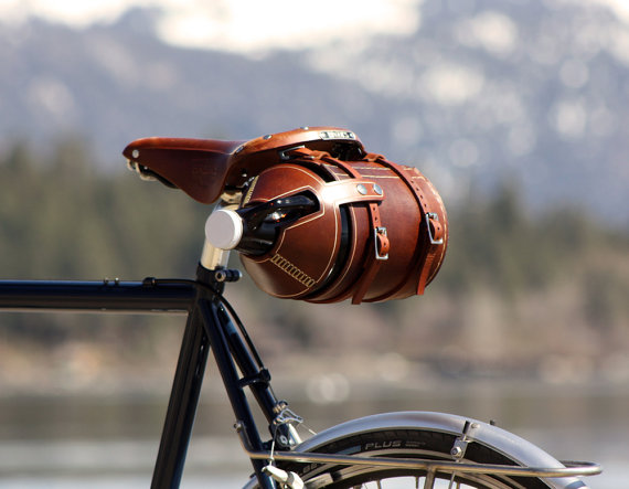 1. Super awesome leather growler holster from  Pedal Happy Design