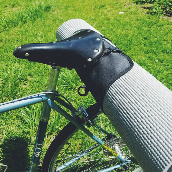 2. Commute to your yoga class footloose and fancy free with this bicycle yoga roll by  anhaicabagworks