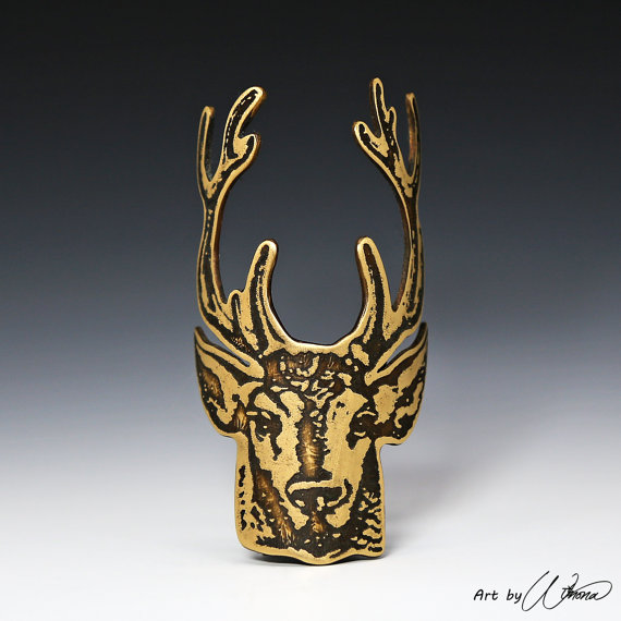 4.  Very into this stag bicycle badge by  Art by Winona