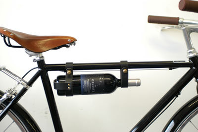 5. I've come home from a trip to the liquor store far too many times with a wine bottle crammed in my bag. This bicycle wine rack from  Oopsmark  would be amazing!