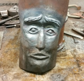 """""""Cathartic Mask"""" Forged steel"""