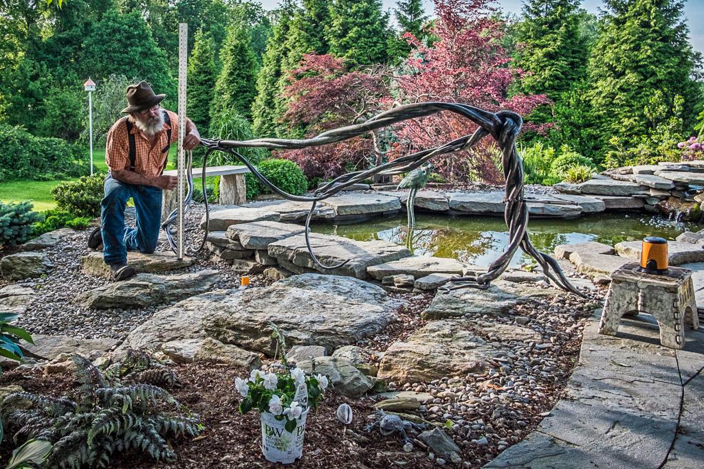 Garden Sculpture - Forged Steel